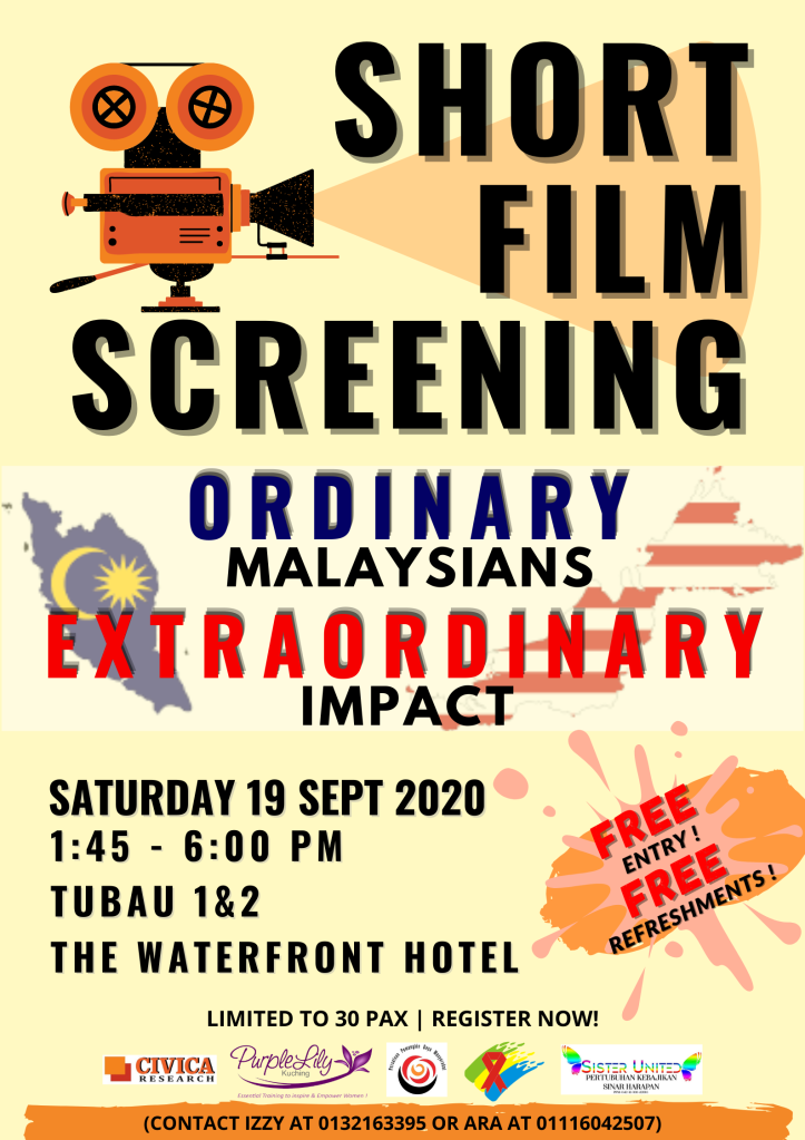 Short Film Screening: ORDINARY MALAYSIANS, EXTRAORDINARY IMPACT